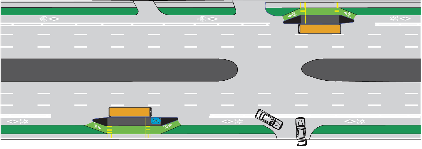 Pembina Buffered Bicycle Lanes Schematic