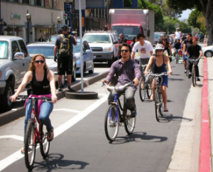 A raised cycle track on St. Mathews would provide a true high quality bicycle arterial